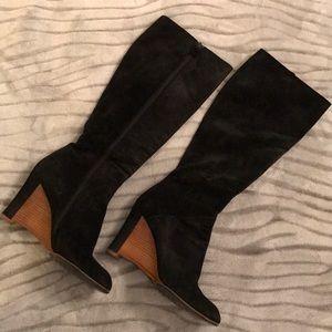 Emporio Armani Suede Black Boots
